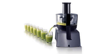 Up to 200% faster juicing compared with other food processor juicers