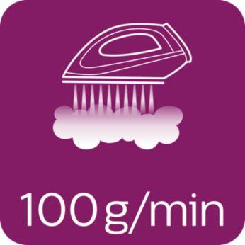 Συνεχής ατμός έως 100 γρ./λεπτό