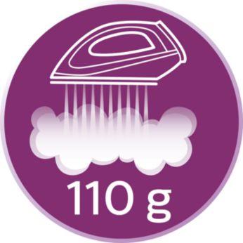 Jet de abur continuu de până la 110 g/min
