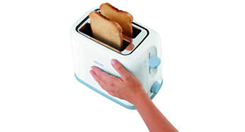 The outside of the toaster stays cool and safe to touch