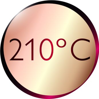 Профессиональная высокая температура укладки 210 °C для идеальных результатов, как в салоне красоты