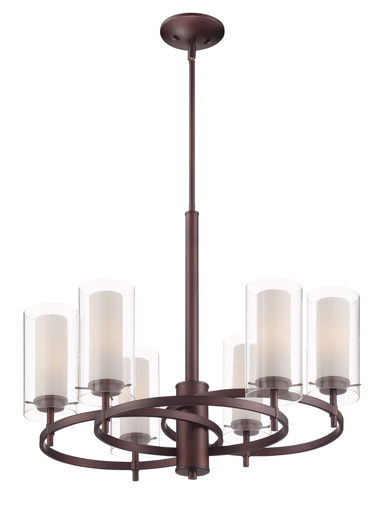 Hula 6-light chandelier in Merlot Bronze finish