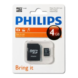Philips  Micro SD cards 4GB FM04MA35B/27