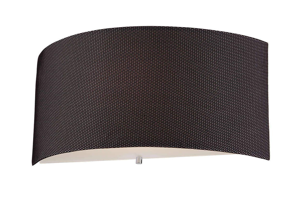 Fishnet 1-light wall sconce in Chrome finish