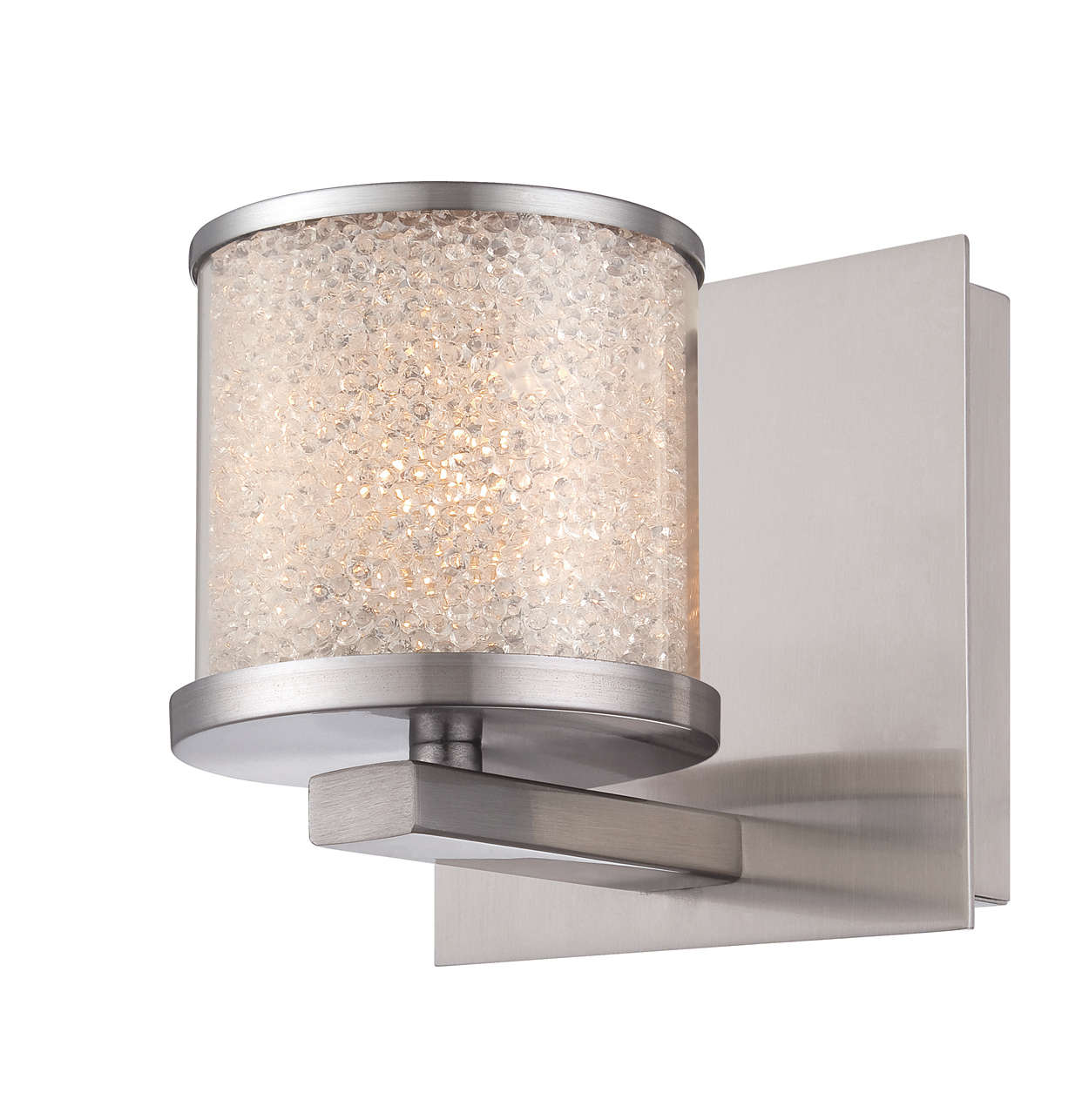 Tiffany 1-light wall sconce in Satin Nickel finish