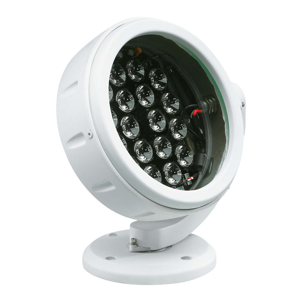 ColorBurst 6 – round, colour-changing LED spotlight for indoor and outdoor applications