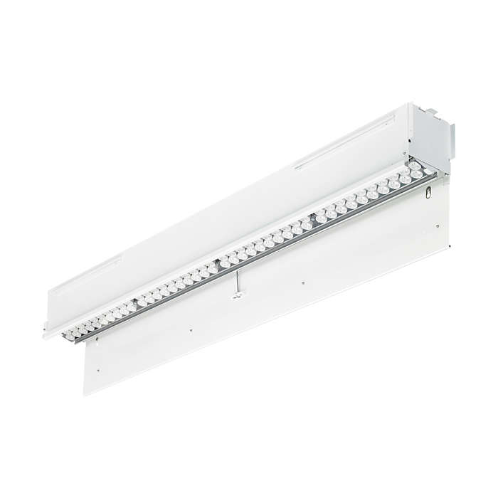 SkyRibbon IntelliHue Wall Grazing Powercore – recessed linear interior LED wall-grazing fixture with intelligent white and color light