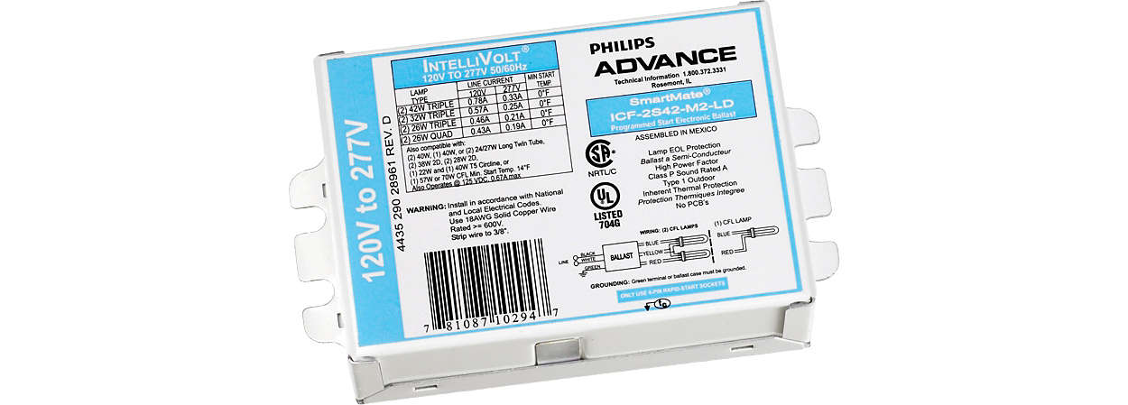 Philips Advance PureVOLT™ ballasts and germicidal lamps help stop the spread of micro-organisms