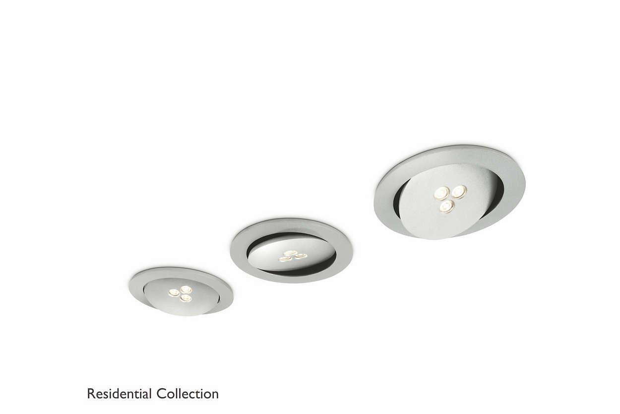 Binnenverlichting Woonkamer Verlichting : Sculptor recessed aluminium ...