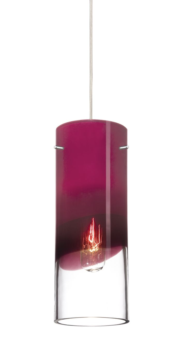 Crete purple glass shade