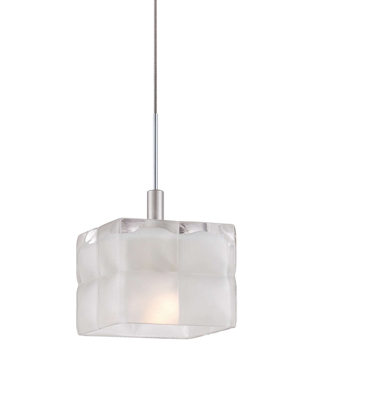 Cushion clear glass shade