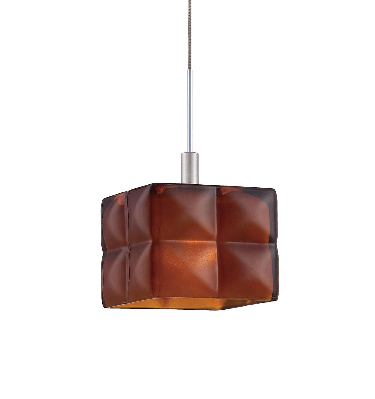 Cushion amber glass shade