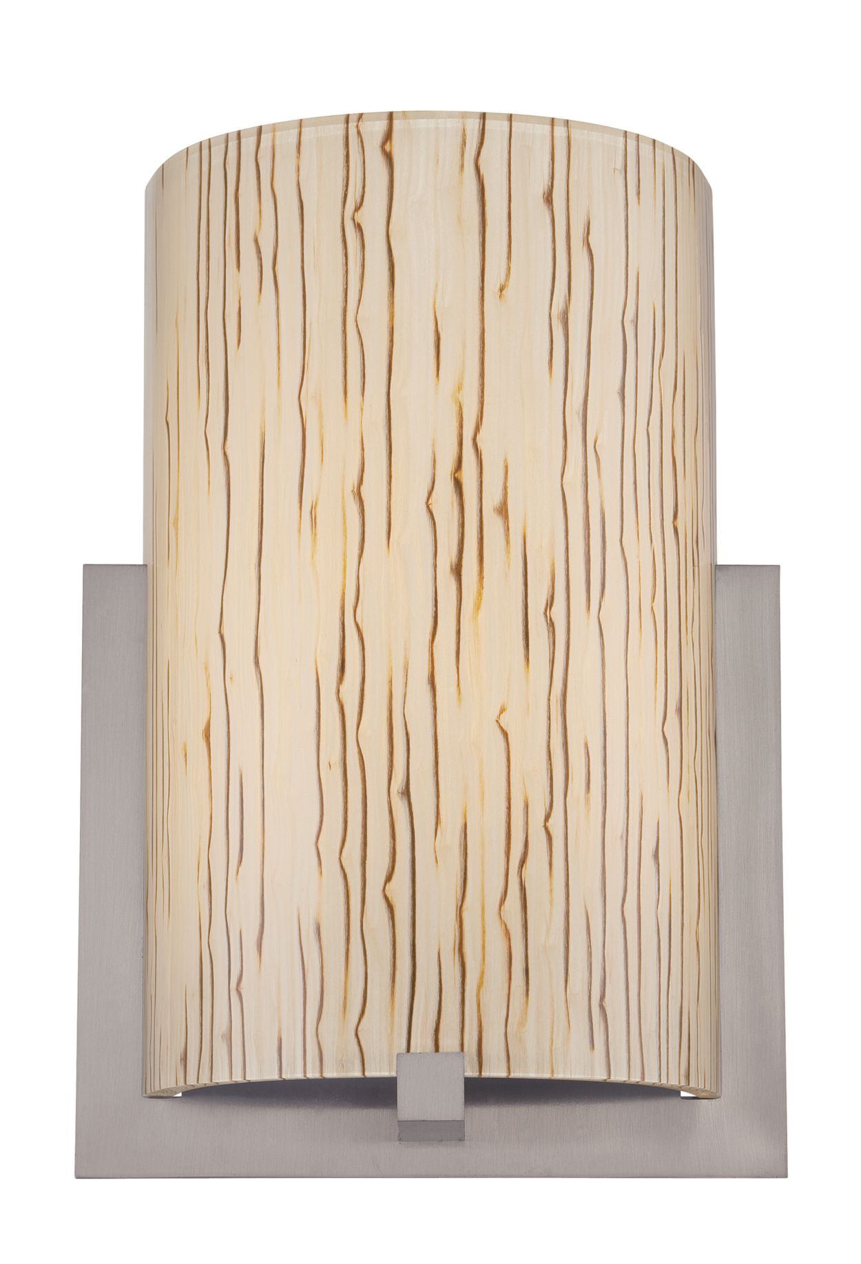 Bow acrylic shade with inlaid bamboo