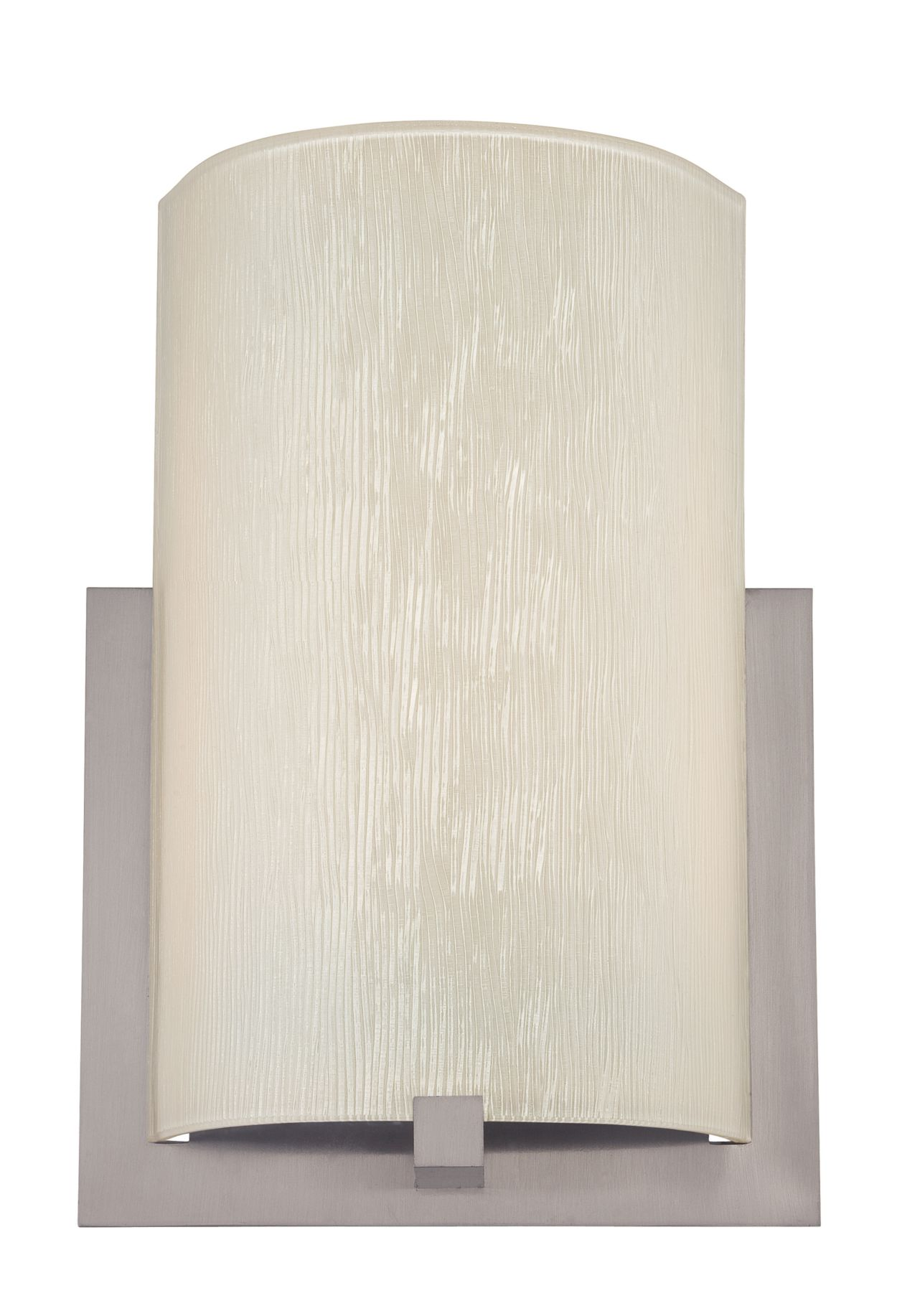Bow white textured glass shade
