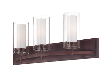Hula 3-light bath fixture in Merlot Bronze finish