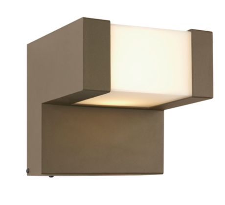 Chock LED outdoor wall lantern, Bronze finish