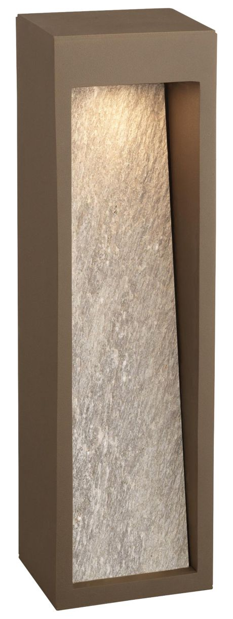 Starbeam LED outdoor wall lantern, Bronze finish