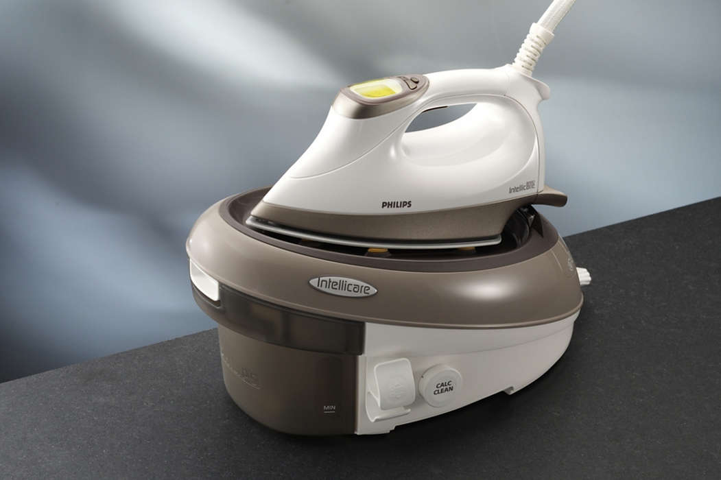 Powerful ironing with pressurised steam