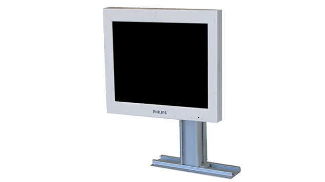 Philips Single Remote Flat Screen Display: Countertop Mounting Kit