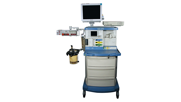 Additional mounting solution for FabiusGS Anesthesia Machine