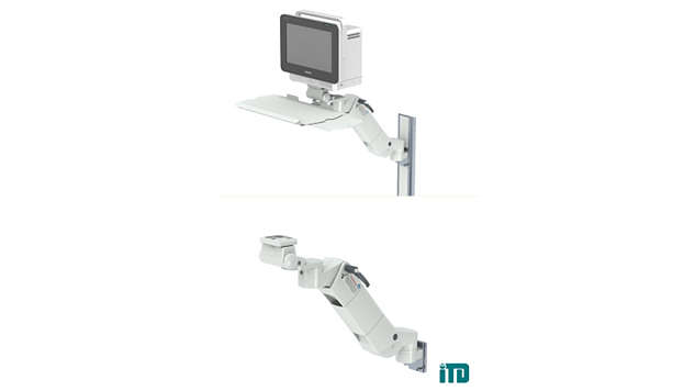 Height adjustable arm on GCX wall channel