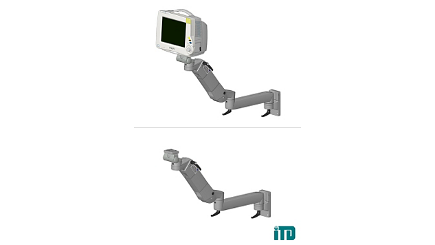 Height, adjustable arm with extension on ITD support extrusion: Mounting kit