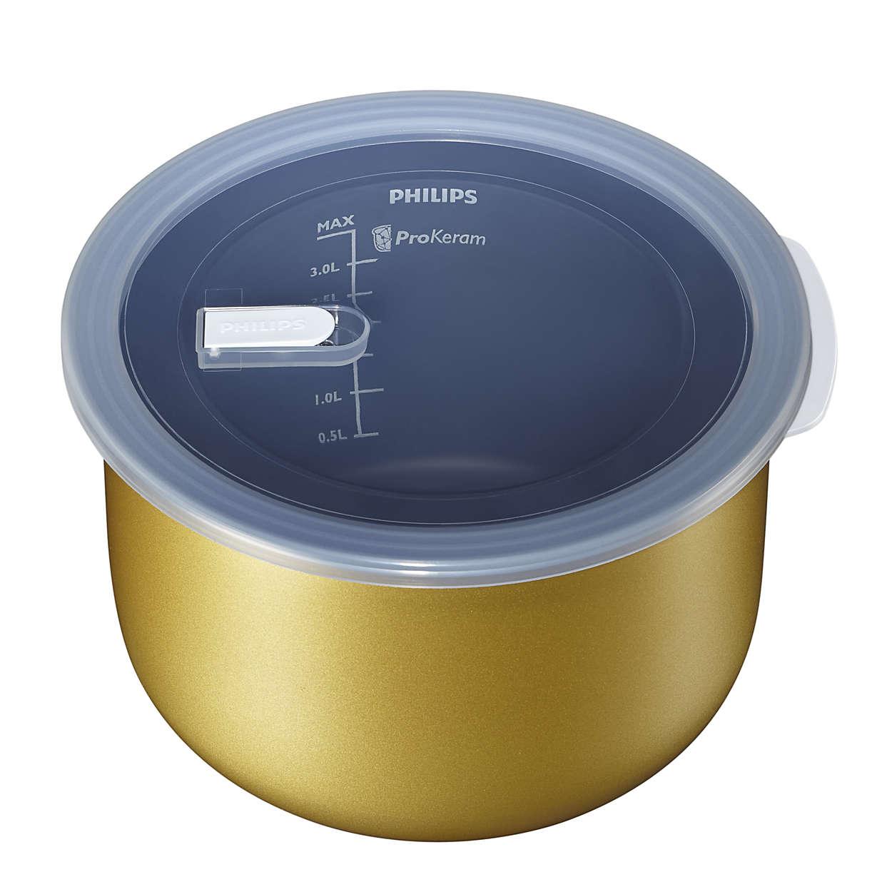 Cuve avec couvercle pour  Philips Multicuiseur