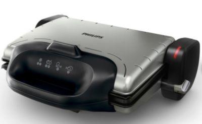 Gezondheidsgrill, geribbelde grillplaat, 2000W