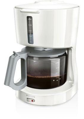 Glass wit koffiezetapparaat