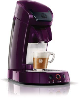 SENSEO® Cappuccino Select Koffiepadmachine HD7853/70 Geïntegreerde melkopschuimer in de kleur Ruby Wine, met Easy-Clean-functie, voor cappuccino met verse melk