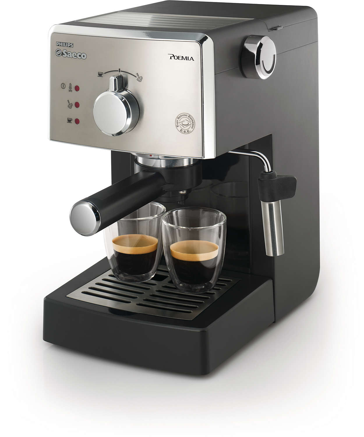 Italian Espresso Machines ~ Poemia manual espresso machine hd saeco