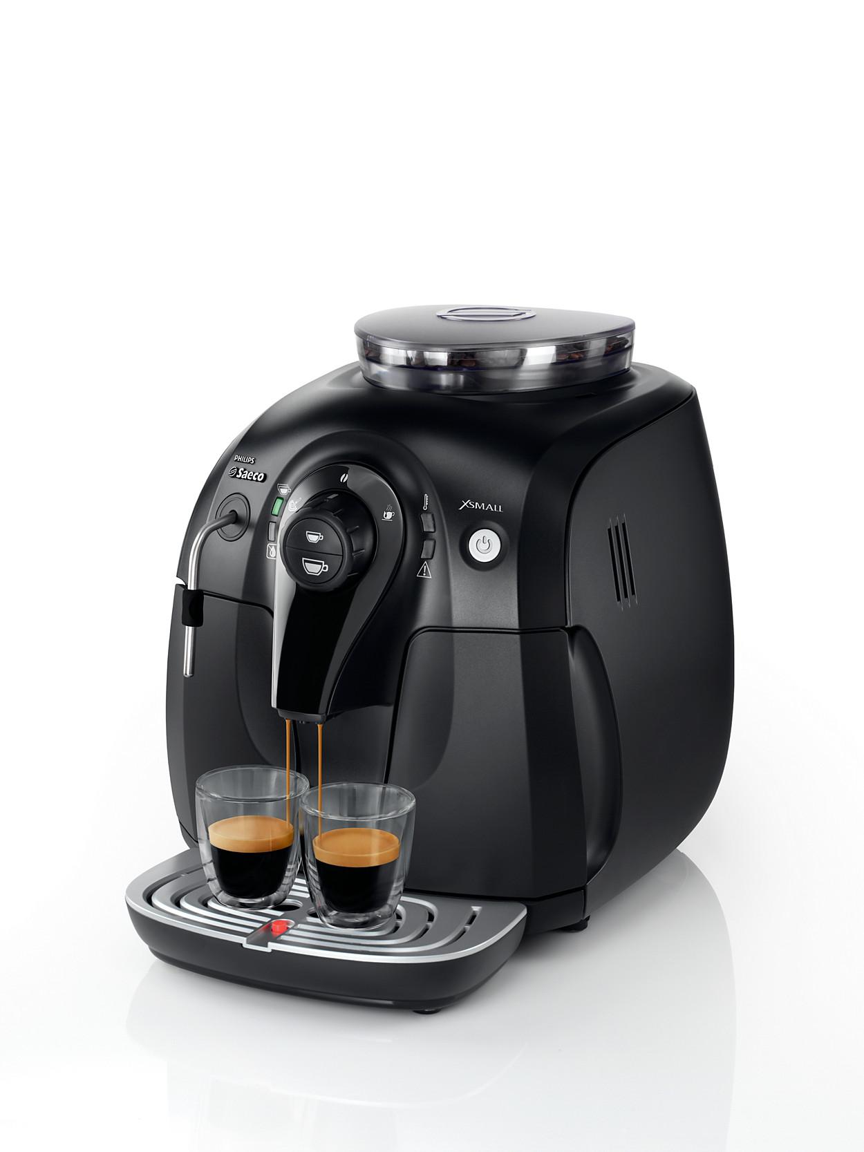 xsmall super automatic espresso machine hd8743 11 saeco. Black Bedroom Furniture Sets. Home Design Ideas
