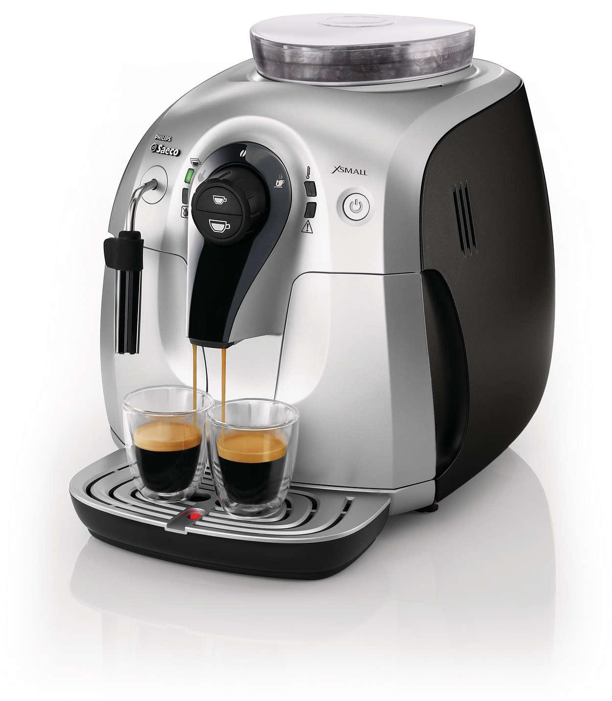xsmall super automatic espresso machine hd8745 47 saeco. Black Bedroom Furniture Sets. Home Design Ideas