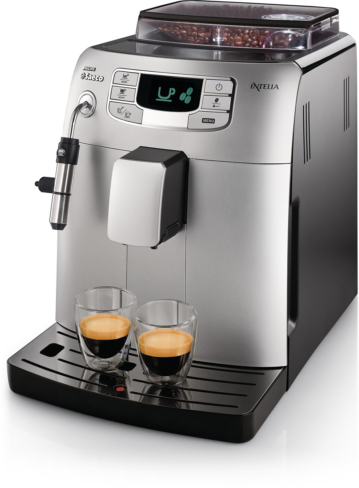 Saeco Coffee Maker ~ Intelia super automatic espresso machine hd saeco