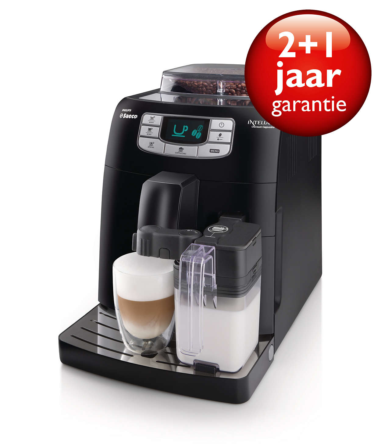 intelia cappuccino machine espresso automatique hd8753 11 saeco. Black Bedroom Furniture Sets. Home Design Ideas