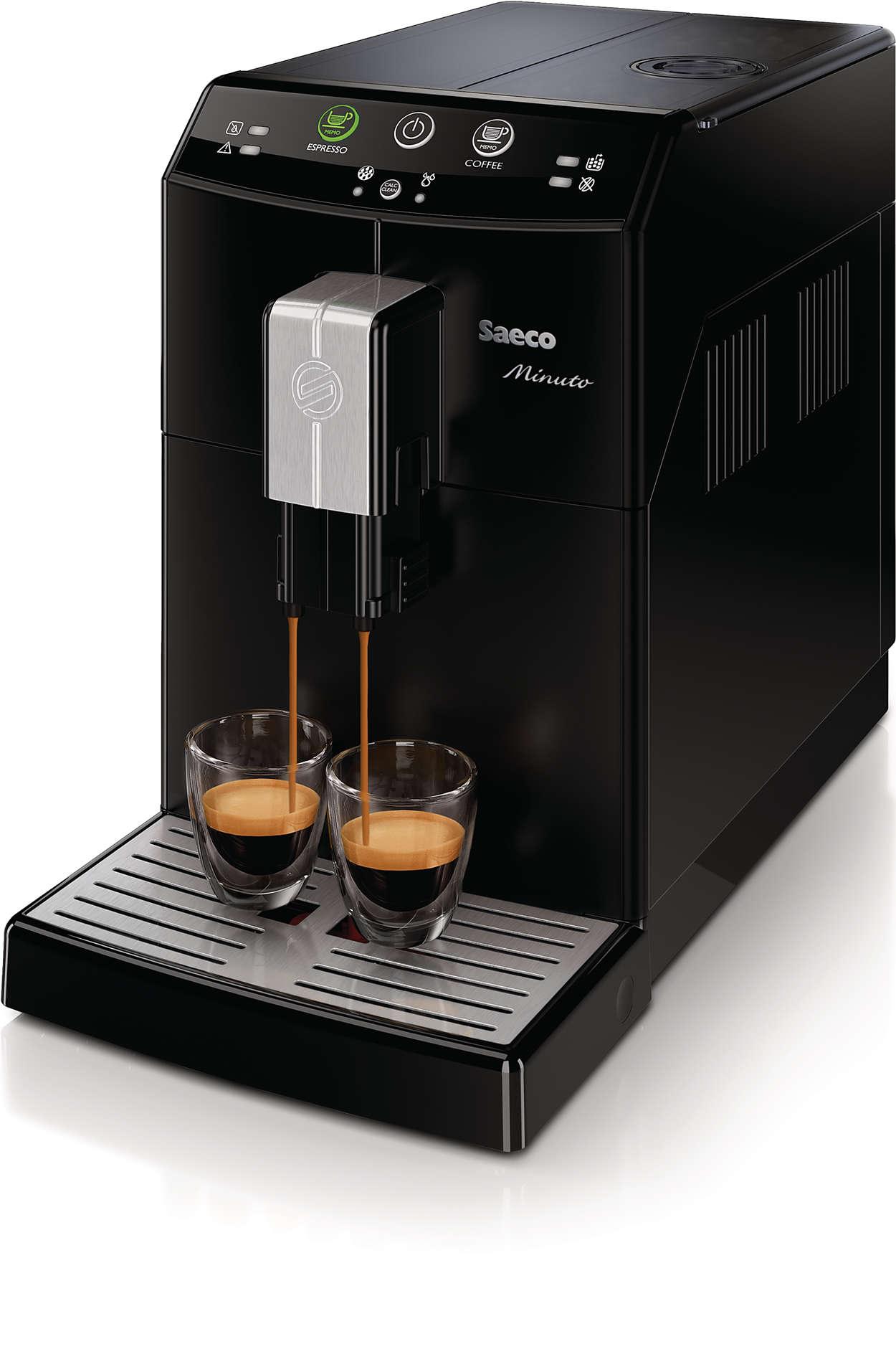 minuto machine espresso super automatique hd8760 01 saeco. Black Bedroom Furniture Sets. Home Design Ideas