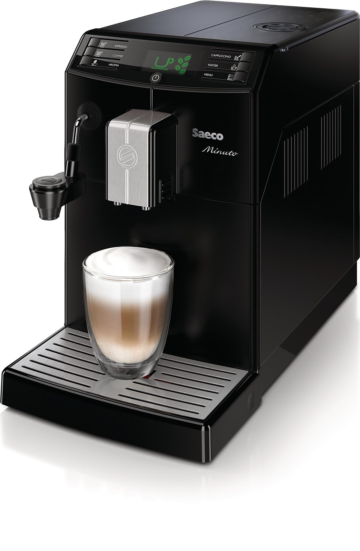 minuto kaffeevollautomat hd8762 01 saeco. Black Bedroom Furniture Sets. Home Design Ideas