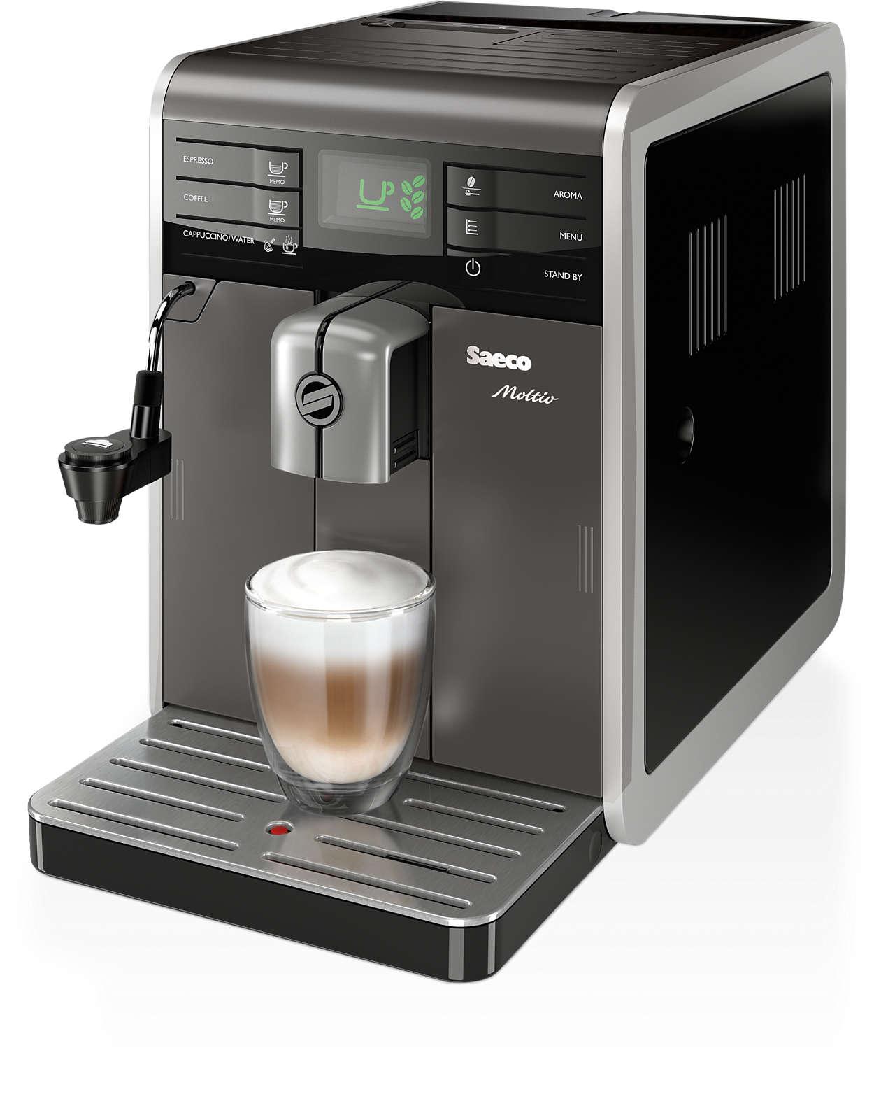 moltio super automatic espresso machine hd8768 03 saeco. Black Bedroom Furniture Sets. Home Design Ideas