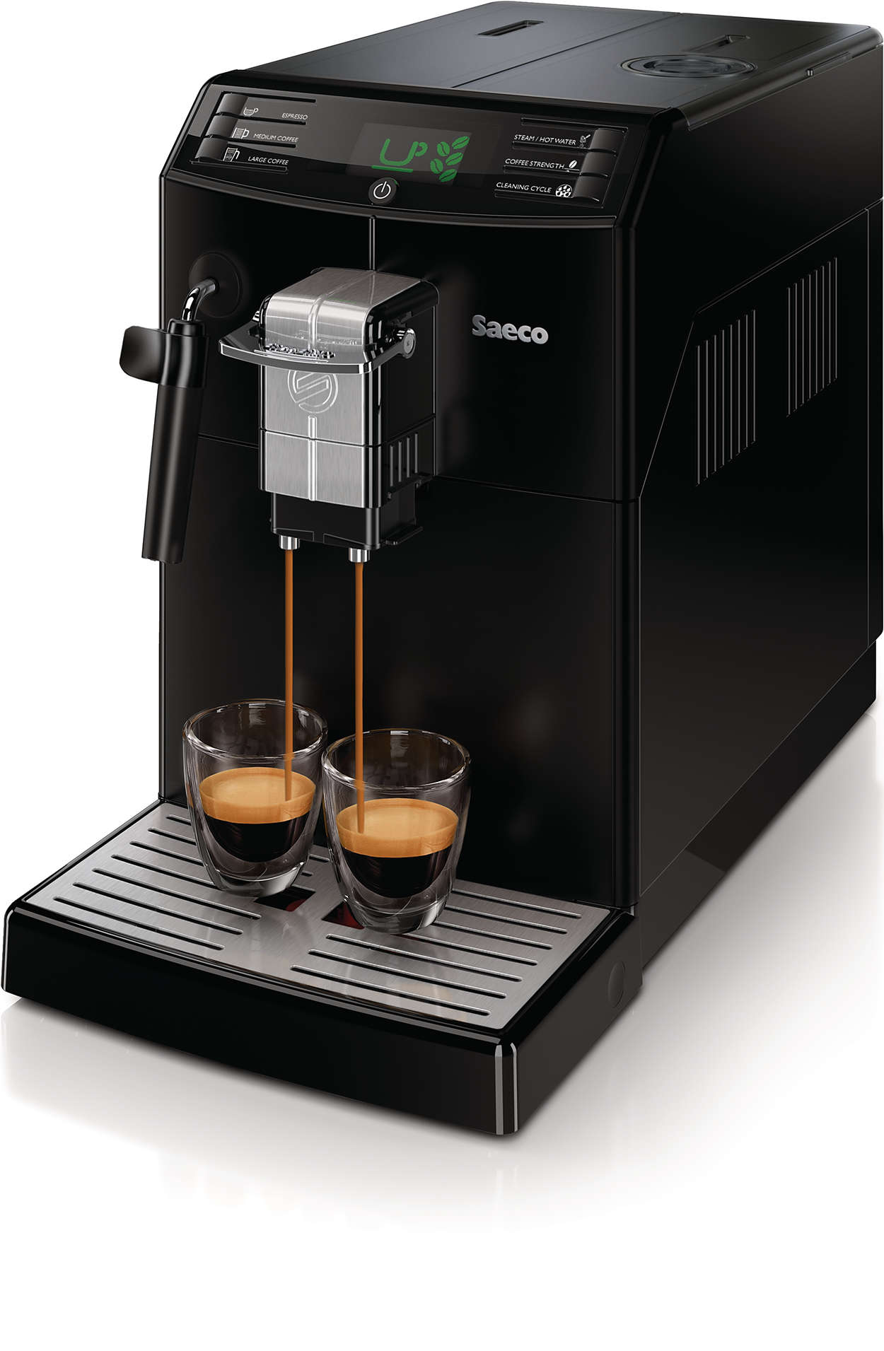 minuto super automatic espresso machine hd8775 48 saeco. Black Bedroom Furniture Sets. Home Design Ideas