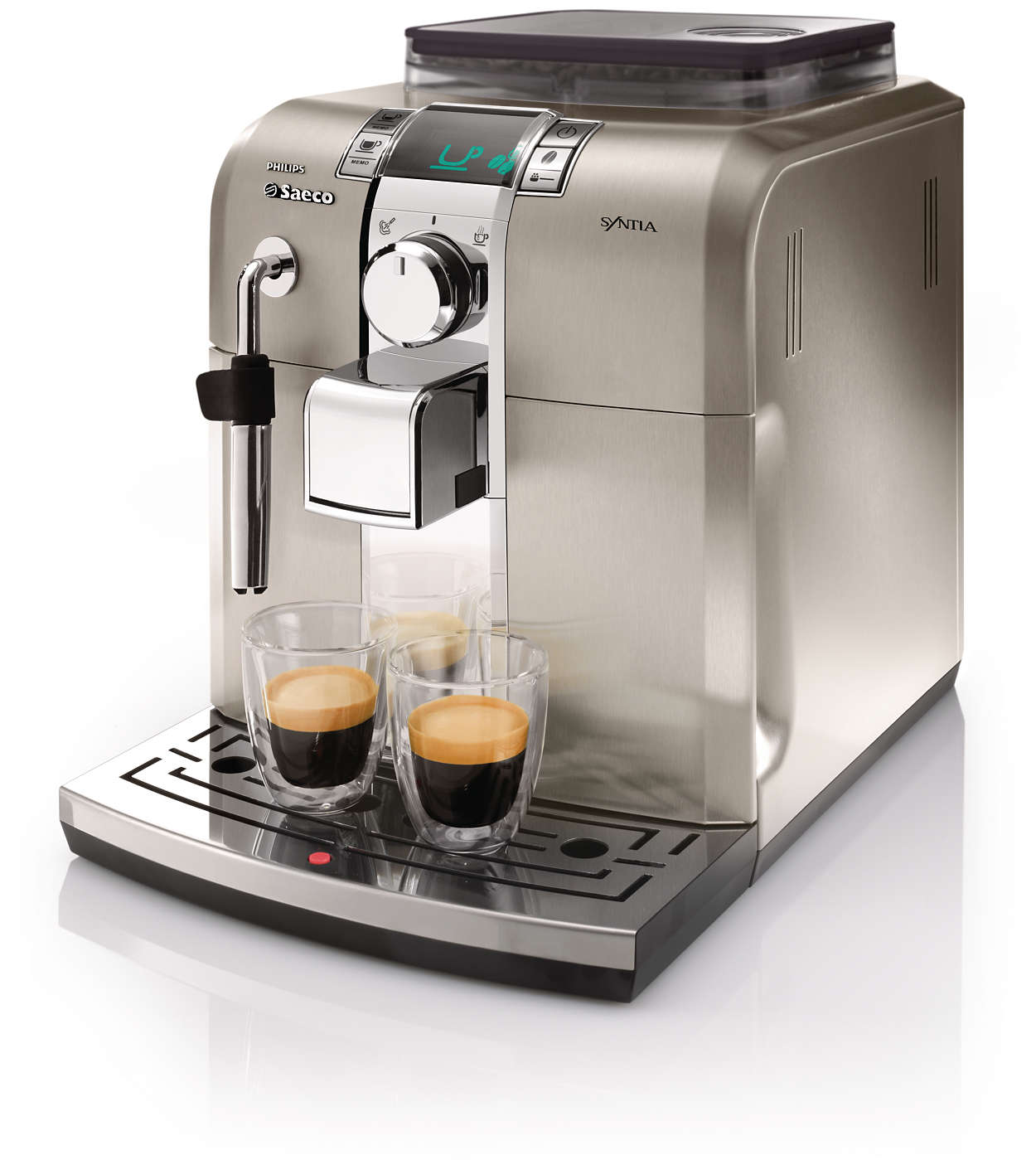 syntia super automatic espresso machine hd8837 47 saeco. Black Bedroom Furniture Sets. Home Design Ideas