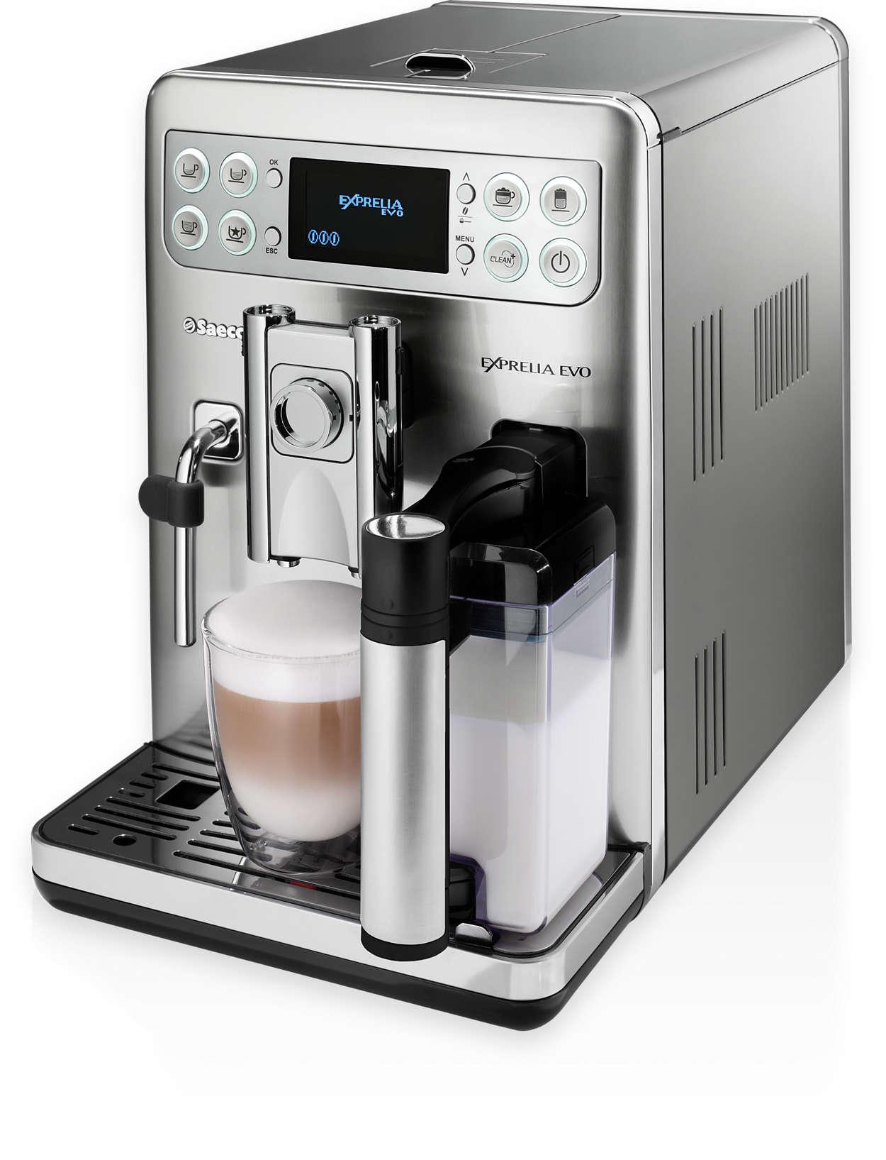 exprelia evo super automatic espresso machine hd8857 47. Black Bedroom Furniture Sets. Home Design Ideas
