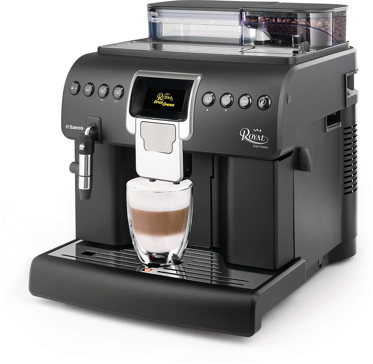 Royal machine espresso super automatique hd8920 01 saeco - Cafetiere semi professionnelle ...