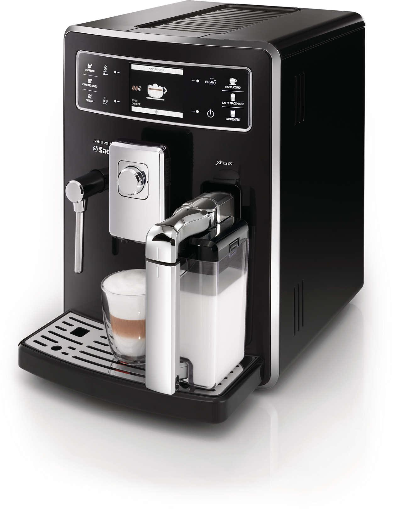 xelsis kaffeevollautomat hd8943 11 saeco. Black Bedroom Furniture Sets. Home Design Ideas