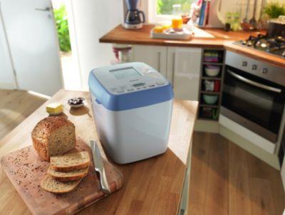 Broodmachine met 12 menu's; capaciteit 1000 g; wit/la