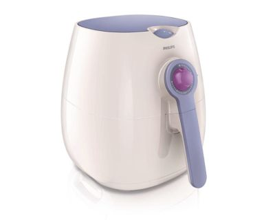 Philips Viva Collection Airfryer HD9220/40 Friteuse saine et multicuiseur 800 g, blanc/lavande avec technologie Rapid Air