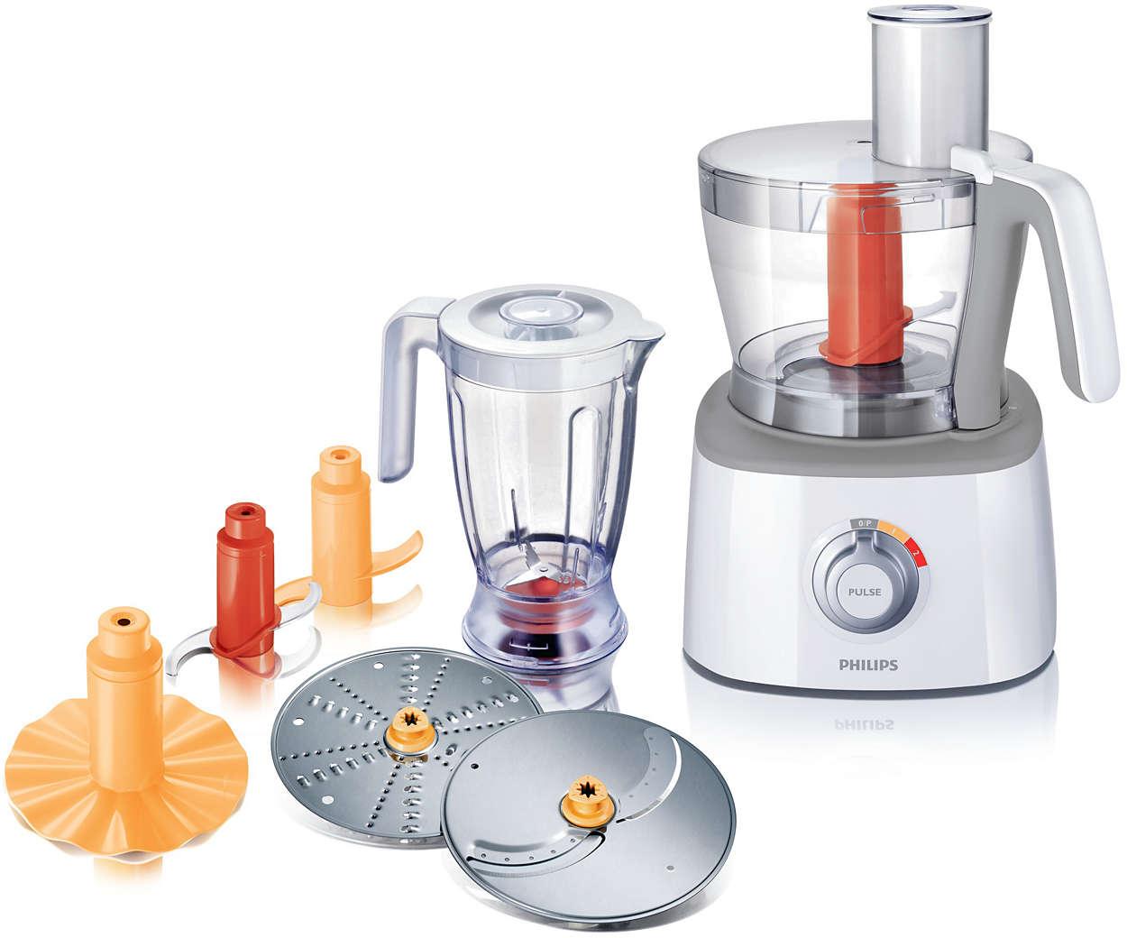 Robot de cuisine hr7771 00 philips for Robot cuisine philips