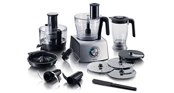 1000 W Compact 3-in-1 setup Food processor