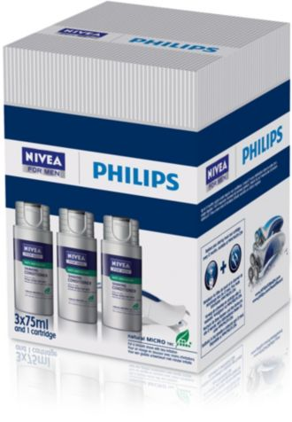 Philips  Shaving conditioner 3-pack with replacement cartridge HS803