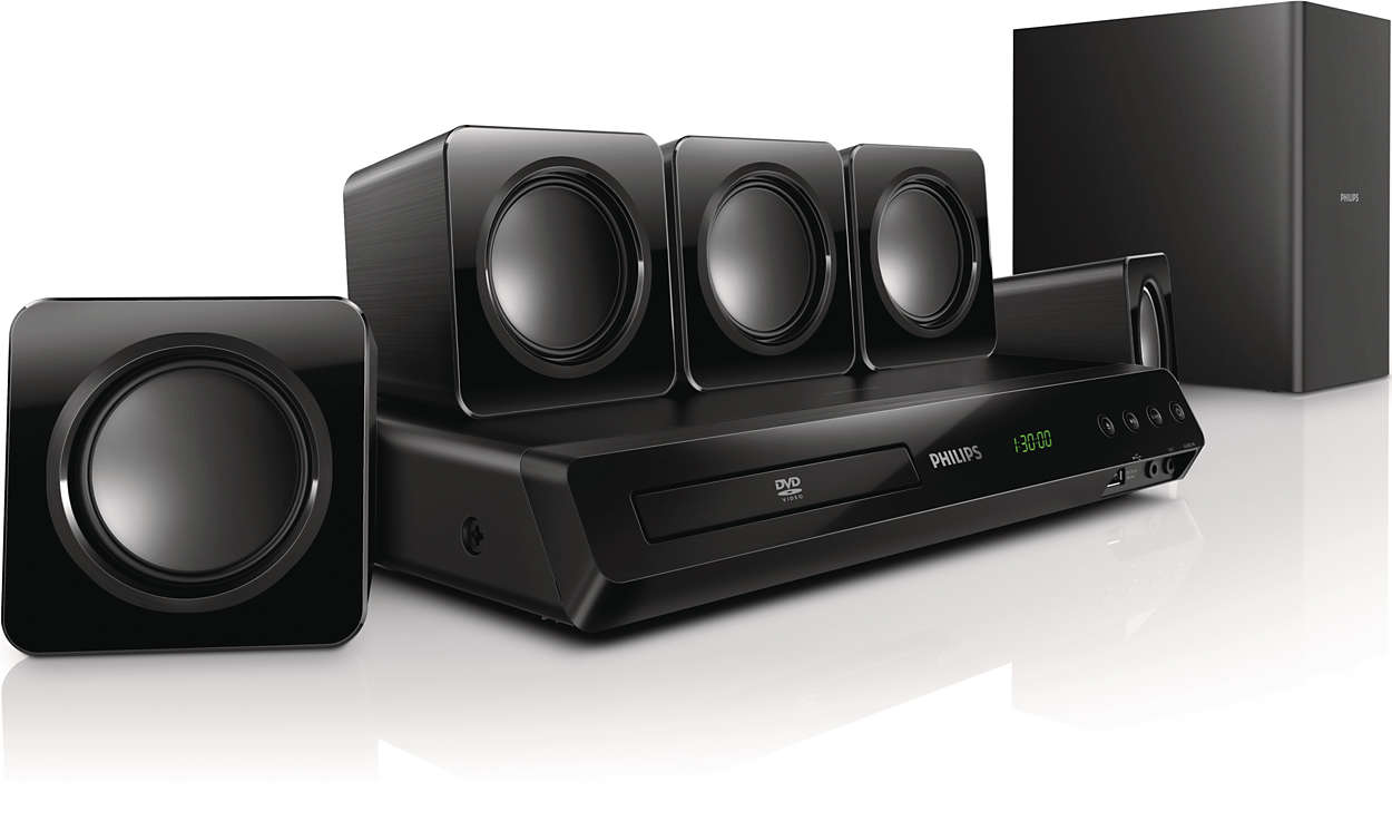 philips htd3509 300w powerful surround sound full hd 5 1. Black Bedroom Furniture Sets. Home Design Ideas