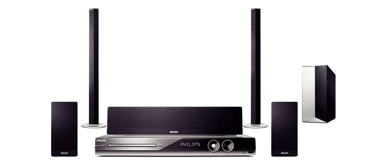 dvd home theatre system hts335w 12 philips. Black Bedroom Furniture Sets. Home Design Ideas